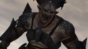 Dragon Age 2 : Sieht zwar mächtig aus, hat aber bei der ersten Begegnung nicht viel zu melden: Ein Oger.