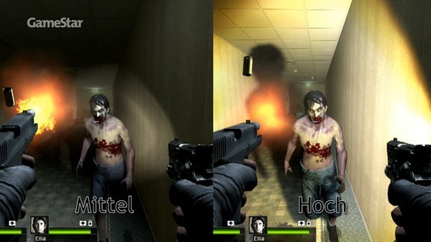 Left 4 Dead 2 - Technik-Check im Video mit Grafikvergleich