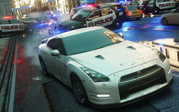 The more, the merrier: Massenkarambolagen gibt es in NfS: Most Wanted natürlich auch.