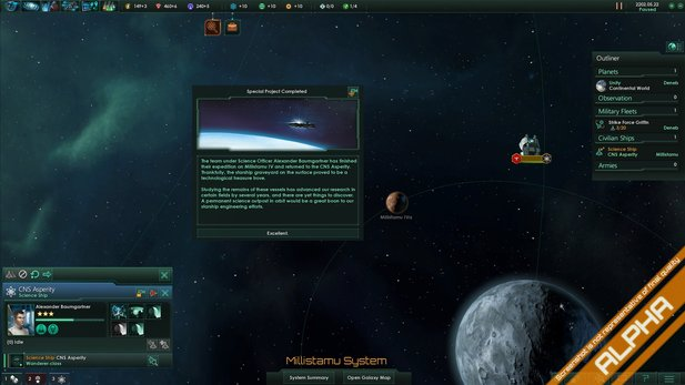 Event-Textfenster bei Stellaris