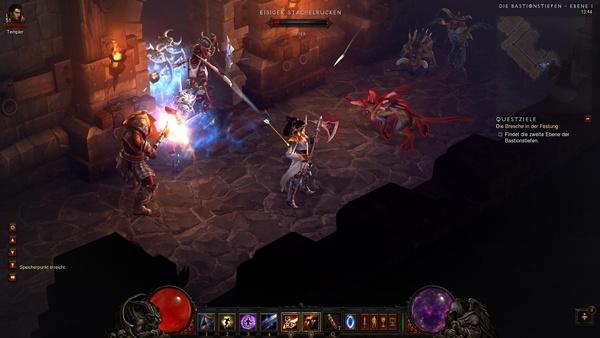 Diablo 3 - Komplettlösung : Auch in den Bastionstiefen ebbt der Monster-Strom nicht ab.
