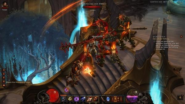 Diablo 3 - Komplettlösung : Endlich sind wir in der zweiten Ebene der Gärten der Hoffnung angekommen.