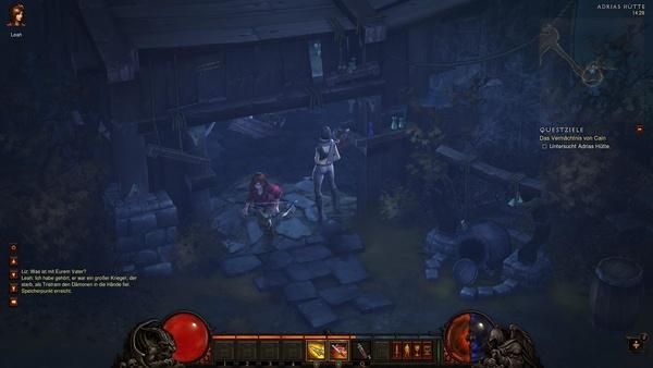 Diablo 3 - Komplettlösung : Vor Adrias Hütte