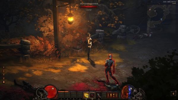 Diablo 3 - Komplettlösung : Unsere Dämonenjägerin trifft auf die ersten Gegner in Diablo 3: Die Auferstandenen