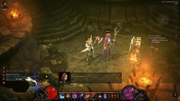 Diablo 3 - Komplettlösung : Nach ihrer Rettung freut sich Adria ihre Tochter wiederzusehen.