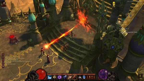 Diablo 3 - Komplettlösung : Leah öffnet uns das Tor zum Palast.
