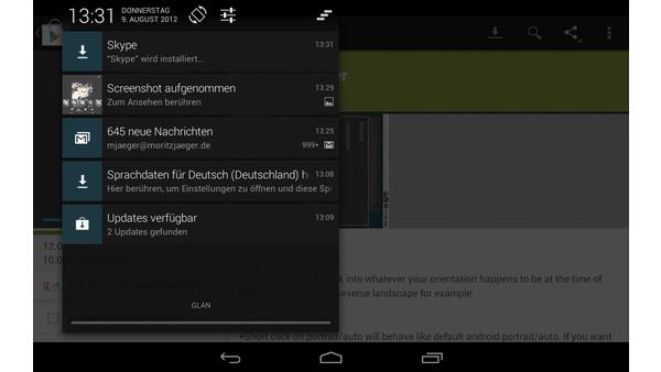 Bilder zu Google Nexus 7 - Android-Screenshots