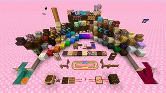 <B>Minecraft</b><br/>Screenshot aus dem DLC »Candy Texture Pack«