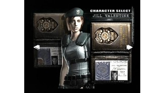 Character selection lets you play as Jill Valentine of Chris Redfield.