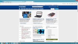 <b>Windows 8</b><br> Der Internet Explorer 10 kommt mit Windows 8 in zwei Versionen, hier die gewohnte Desktop-Variante.