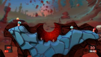 Worms Revolution - Screenshots aus dem Mars-Pack-DLC