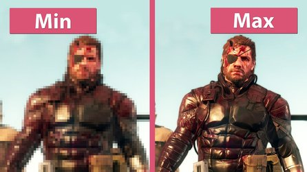Metal Gear Solid 5: The Phantom Pain - Niedrige und maximale Details im Grafikvergleich