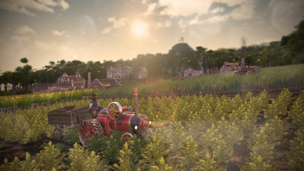 From the beginning of June you can also cultivate your fields in Anno 1800 with a tractor. The vehicles are part of the new Rich Harvest DLC.
