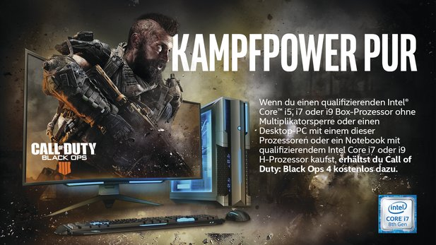 Call of Duty: Black Ops 4 als Vollversion gibt es gratis zu allen ONE GameStar-PCs mit Intel CPU