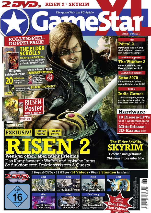 GameStar 06/2011 mit Risen 2 als Titelthema ab 27. April am Kiosk
