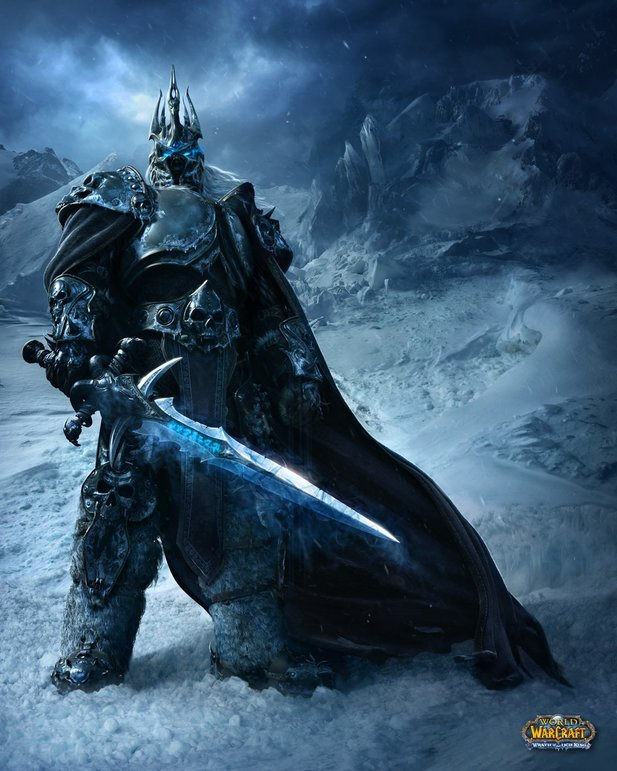 Artwork zum Introfilm für das zweite WoW-Addon Wrath of the Lich King.