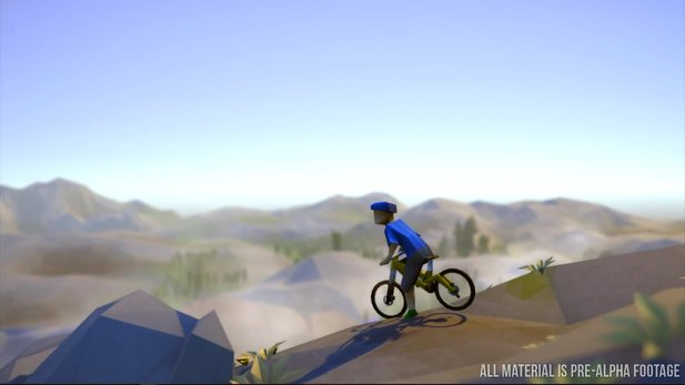 Lonely Mountains: Downhill - Reveal-Trailer zeigt die coole Grafik des Arcade-Mountainbike-Spiels