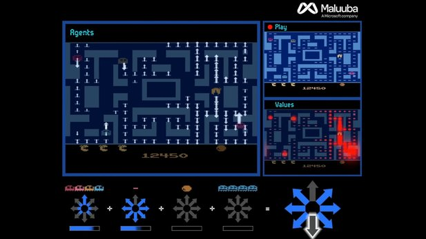 Ms. Pac-Man vs. KI (Screenshot Microsoft Research)