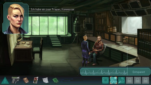 Whispers of a Machine ist ein klassisches Point&Click-Adventure mit Cyberpunk-Setting.