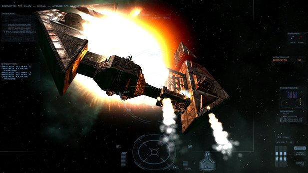 Das Raumschiff-Design ähnelt dem Look in Wing Commander 3