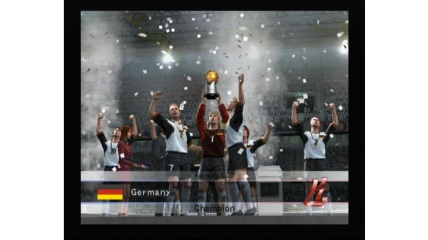 Germany celebrating the winning of a Konami Cup