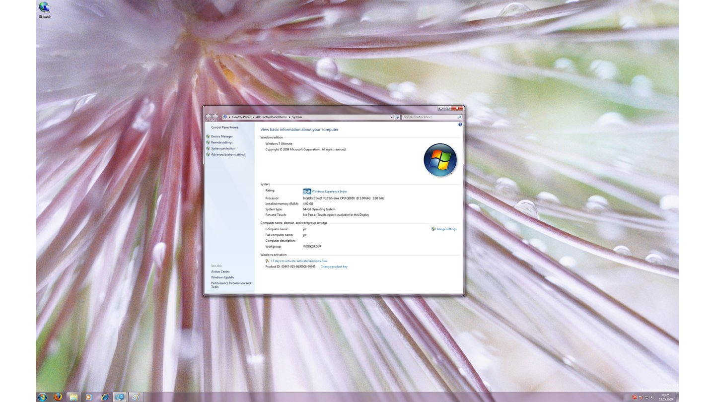 Windows 7-Thema: Nature