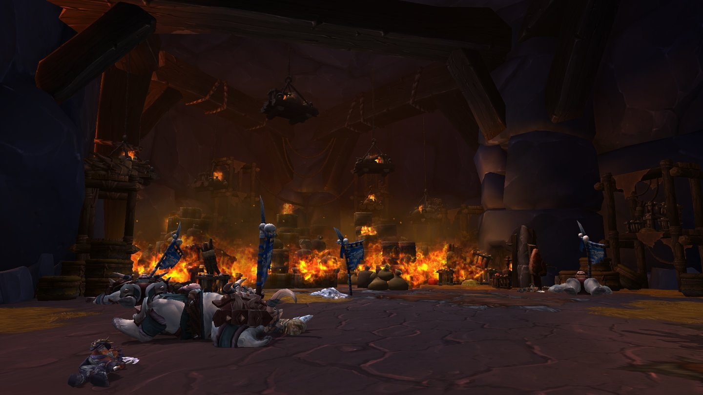 World of Warcraft: Warlords of Draenor … deren Festung sie gnadenlos niederrennen.