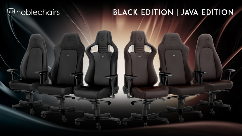 noblechairs Black- und Java-Editionen