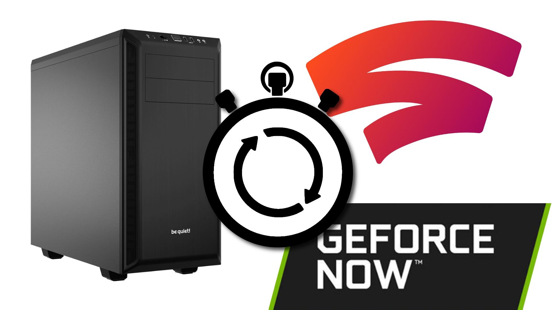 PC vs. Nvidia Geforce Now vs. Google Stadia - Latenz im Test