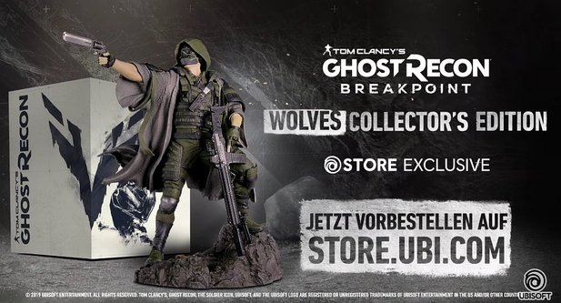 Die Wolves Collector's Edition von Ghost Recon: Breakpoint.