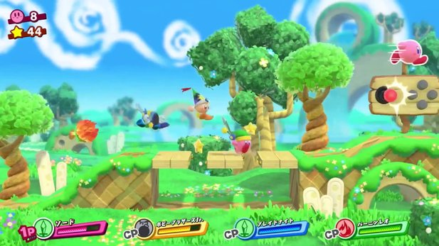 Kirby Star Allies - Gameplay-Trailer zeigt Koop-Spezialattacken, Elemente & Boss-Kämpfe