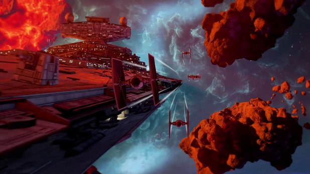 Star Wars Squadrons shows in the Gameplay Trailer, how fast the battles are