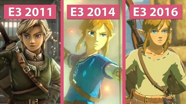 The Legend of Zelda: Breath of the Wild - Die Trailer der E3 2016, 2014 und 2011 im Vergleich
