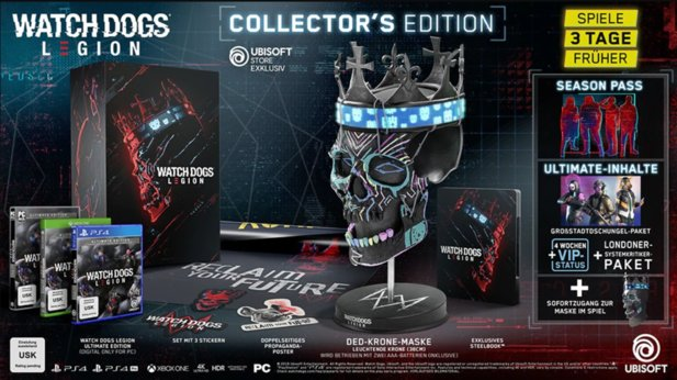 Watch Dogs Legion - Inhalte der Collector's Edition.