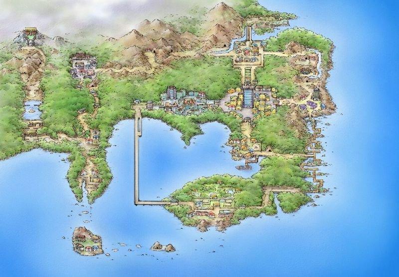 pokemon feuerrot karte Pokémon: Let's Go   Die neue Map der Kanto Region, 22 Jahre später