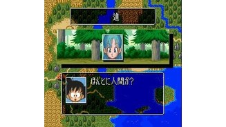 Talking to Bulma in the forest