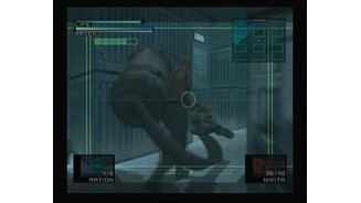 Boss battle against Vulcan Raven, viewport from the Nikita missile camera.