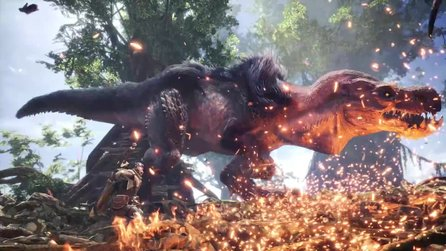 Monster Hunter World: Iceborn - Im Ankündigungstrailer zum DLC flieht Rathalos in den eisigen Norden