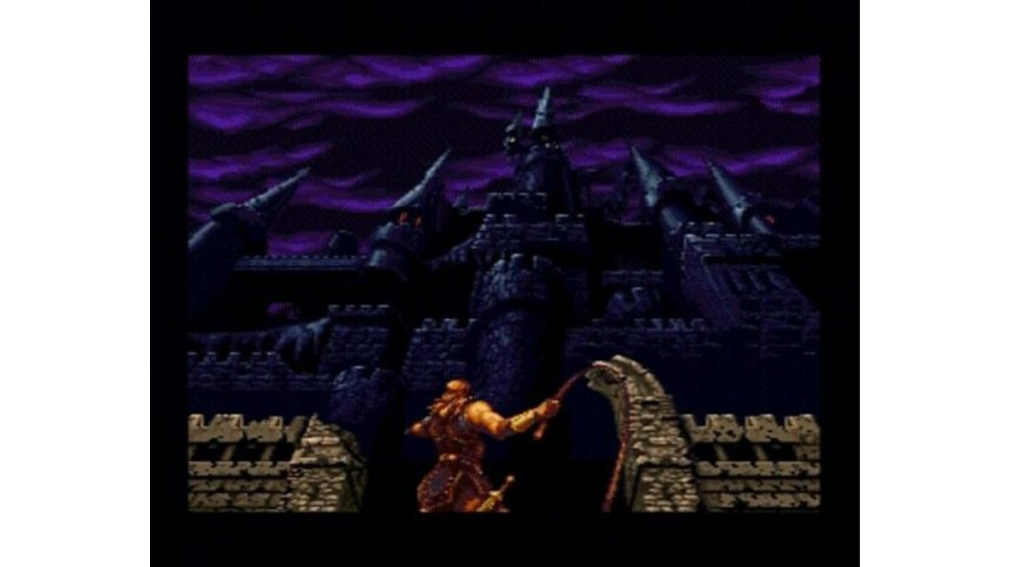 (Original Mode) The main character prepping to enter the infamous castle of evil.