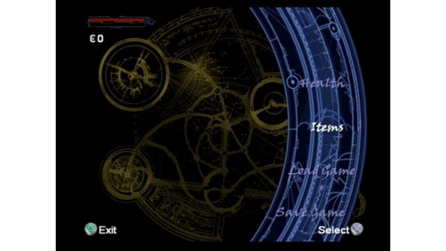 One of the game menus