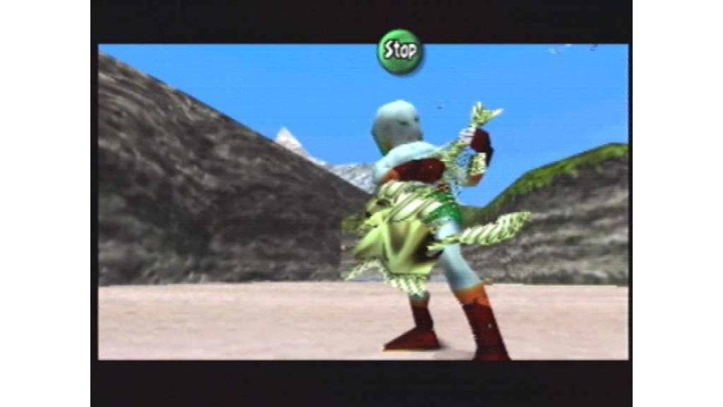 Zora Link grinds away on his fishbone axe.