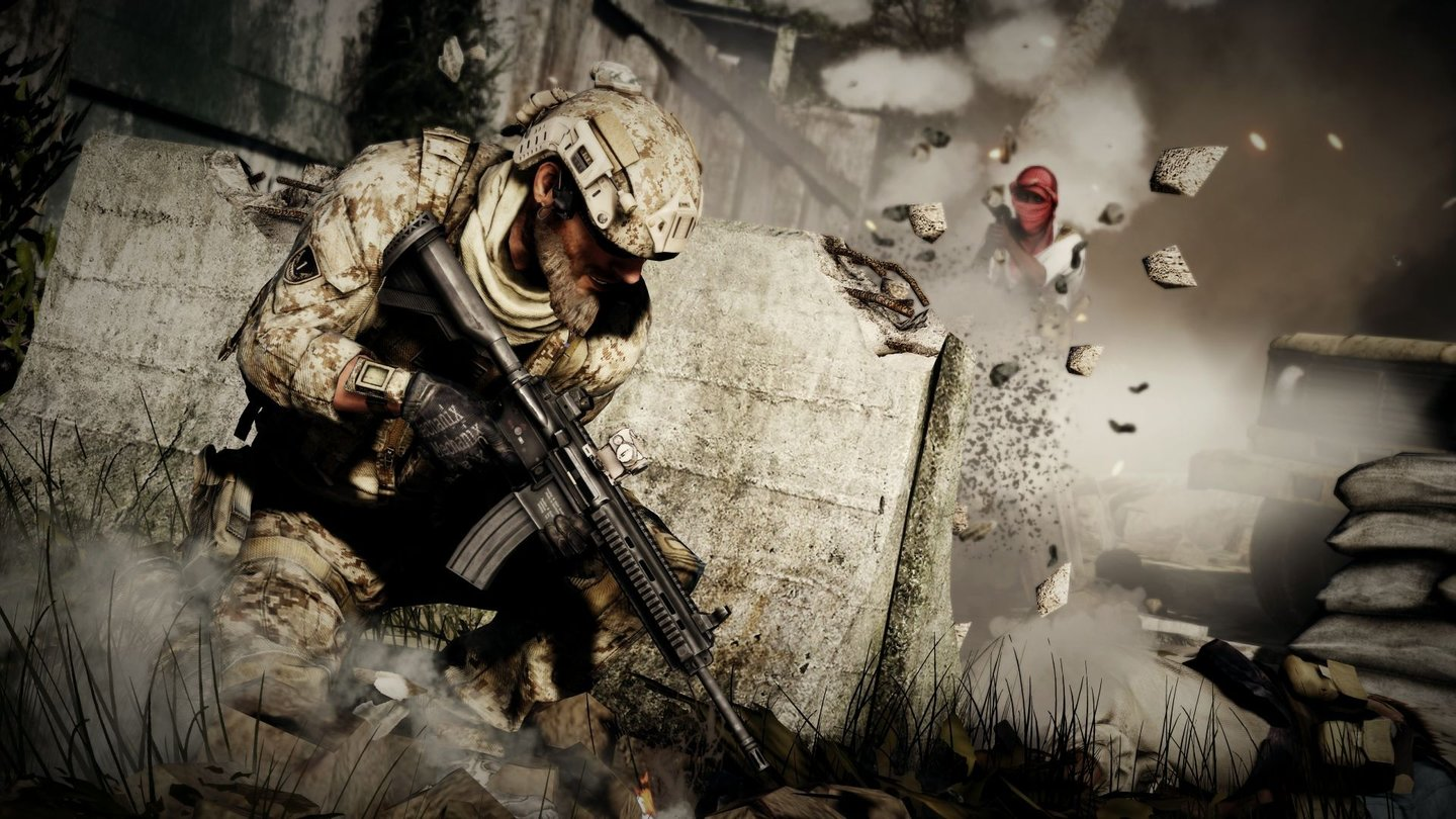 Medal of Honor: Warfighter - Multiplayer-Modus… Die Frostbite-2-Engine hinterlässt bei (fast) jedem Schussspuren.