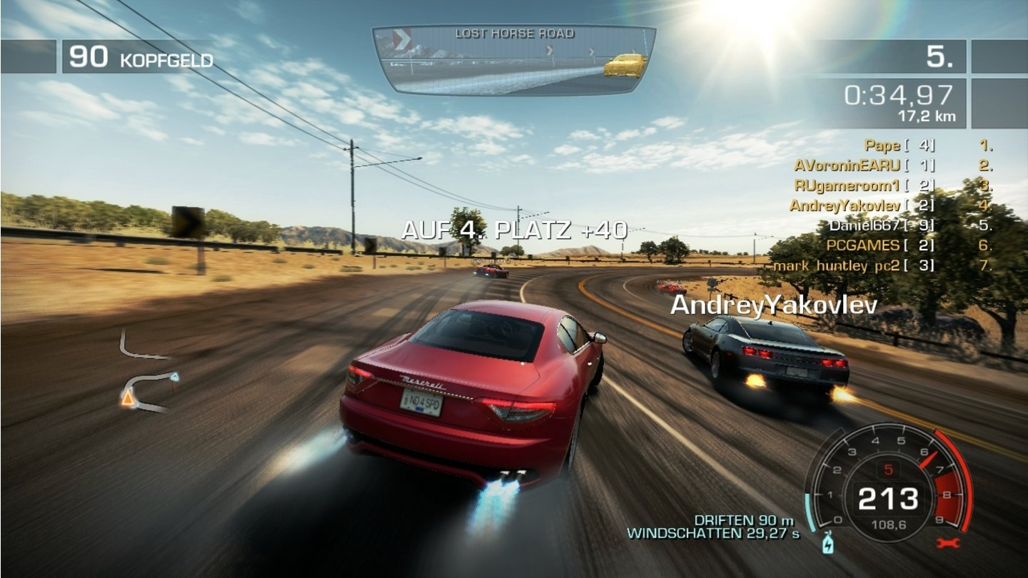 Need for Speed: Hot PursuitDie Online-Rennen sind das Herz von Hot Pursuit.