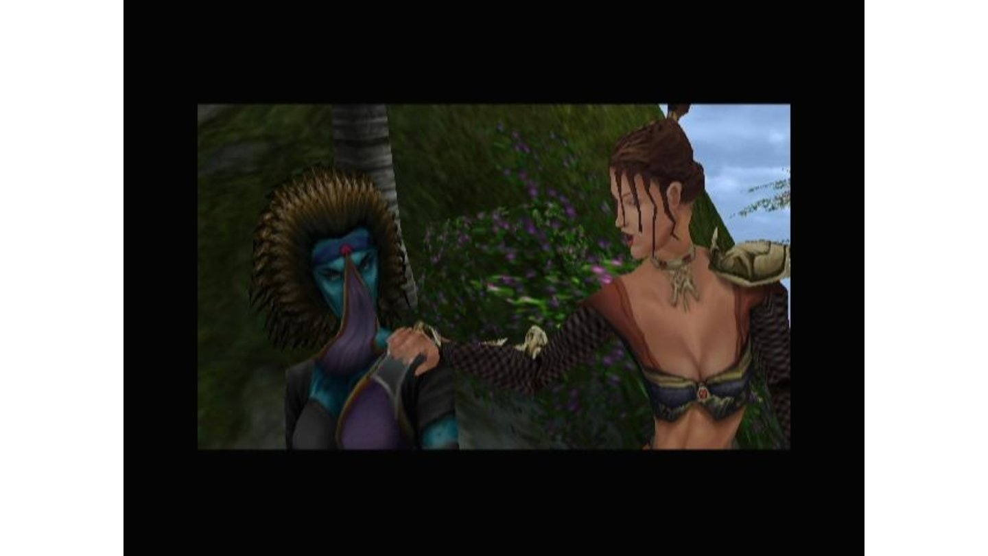 One of the many cutscenes in the game