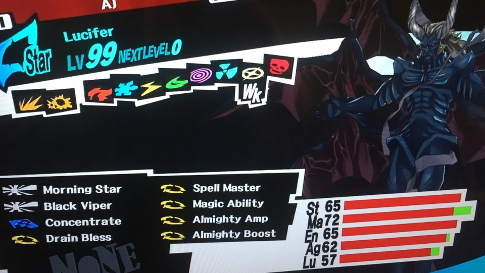 Lucifer in Persona 5.