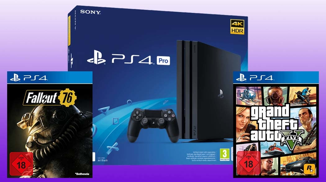 PS4 Pro + 2 game for only 389 €