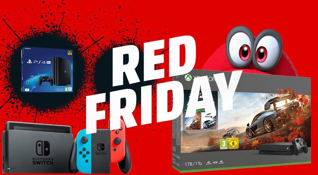 Ps4 Pro Xbox One Und Nintendo Switch Angebote Beim Red Friday Von